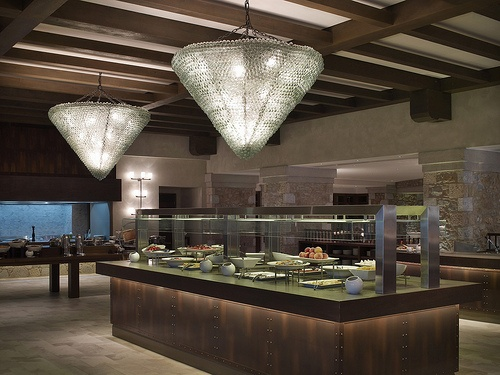 Morias Restaurant: A wholesome Greek breakfast buffet and in the evening, traditional Greek dishes and fine international cuisine  #Restaurant #Traditional #Greece #CostaNavarino #Resort