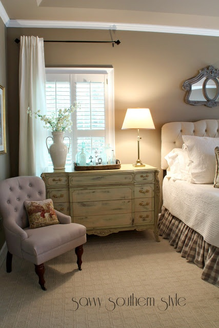 Savvy Southern Style: Master Reveal Love this chair!