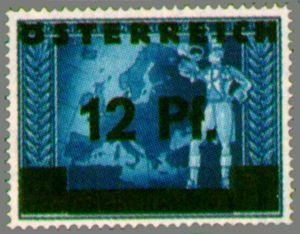 Overprint German stamp postilion in front of European map