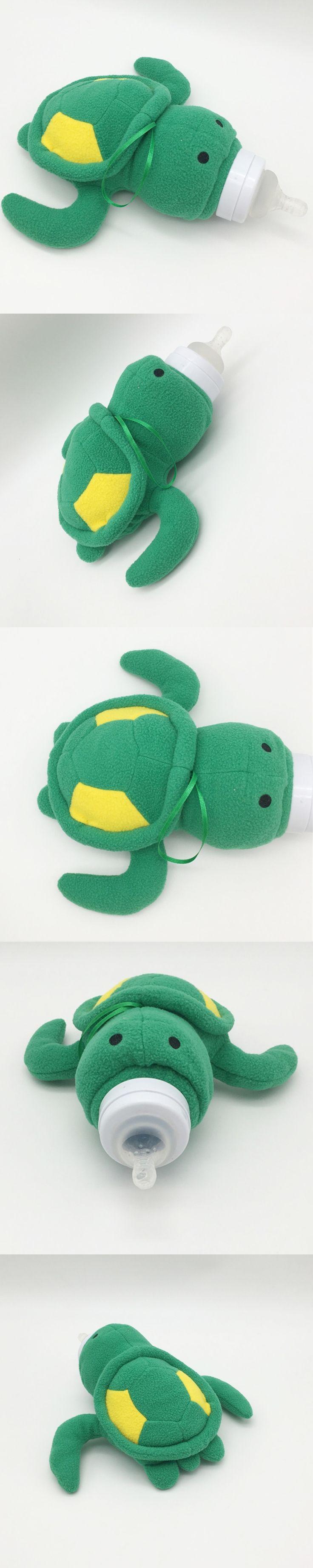 Cute Green Turtle Baby Feeding Bottle Bag//Baby Bottle Case Baby Bottle Huggers/Baby Feeder Cover/Infant&Toddler's Plush Toys