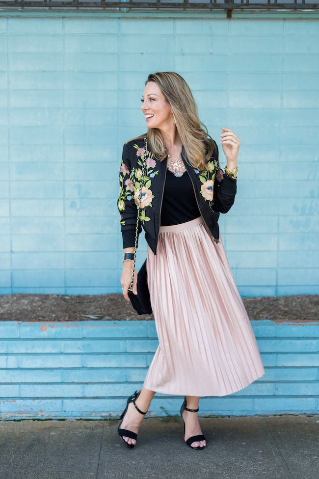Honey We're Home: Fall Must Have | Bomber Jacket (with Midi Skirt)