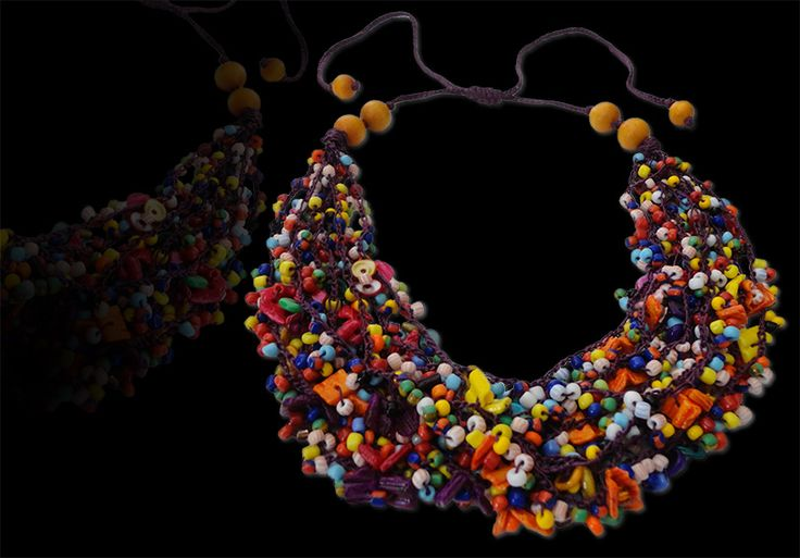 Fabulous multicolor necklace is a classic fashion inspiration. Make it a matching with any fashionable piece.