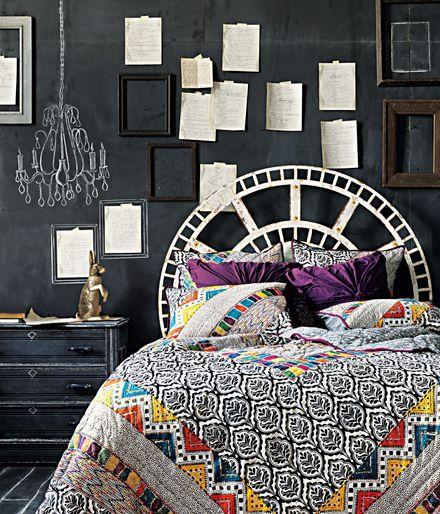 : Decor, Interior, Idea, Quilt, Chalkboard Walls, Bedroom
