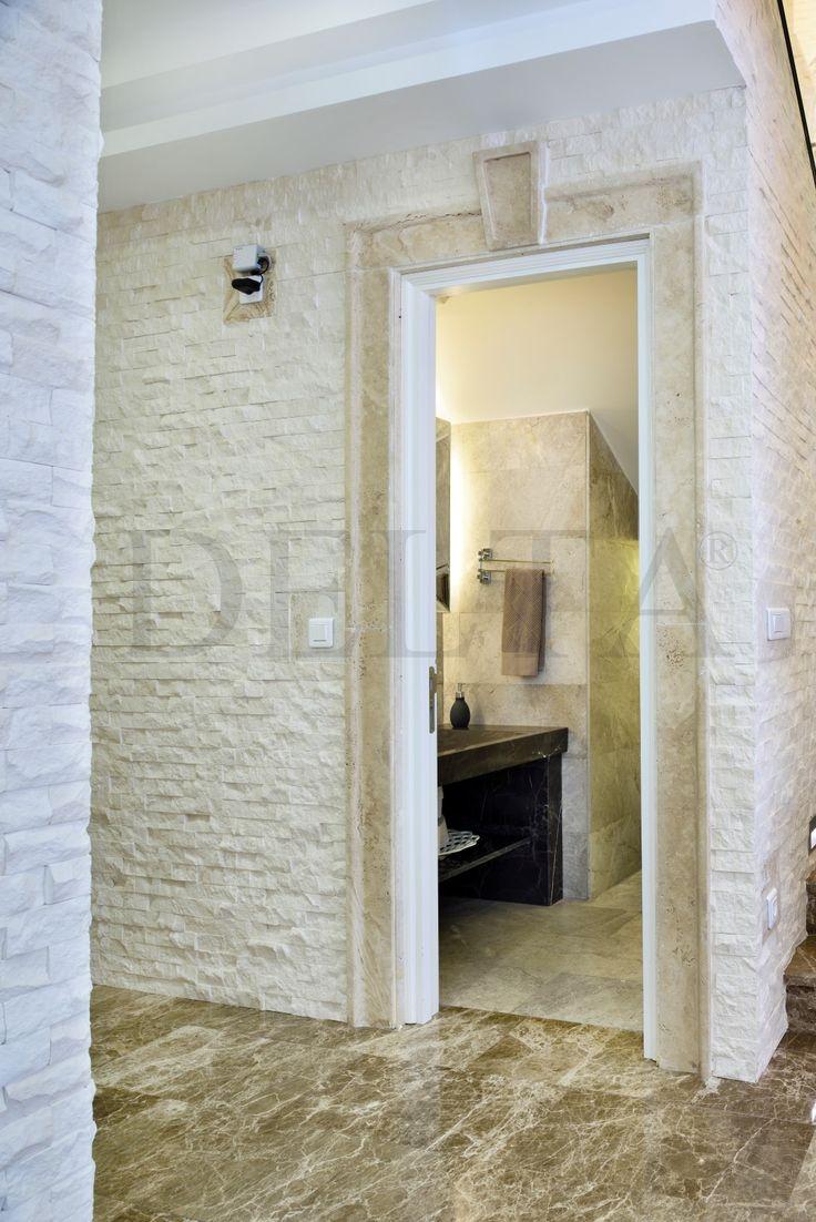 Wall cladding | Myra splitface mosaic, Flooring | Light Emperador marble tiles