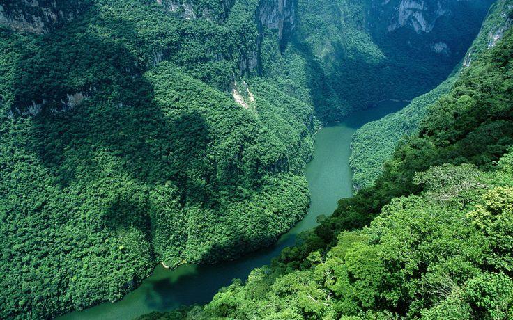 Un paisaje como de la Tierra Media, en el Cañón del Sumidero, Chiapas. | 19 Lugares surreales de México para visitar al menos una vez en la vida