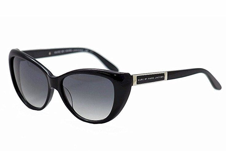 Marc by Marc Jacobs Women's Cat Eye Sunglasses, Black/Grey, One Size