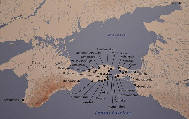 Ancient Greek colonies along the north coast of the Black Sea, Taurica (Crimea)