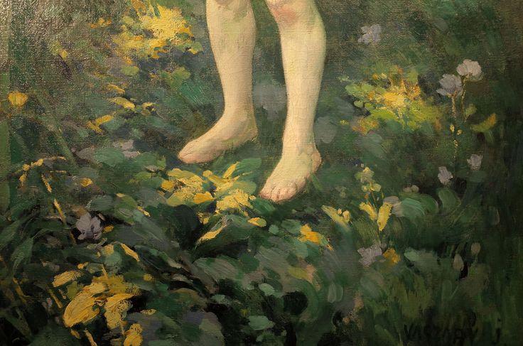 Vaszary János: Az eleven kulcs, részlet, 1899, olaj , vászon, 134 x 90,5 cm