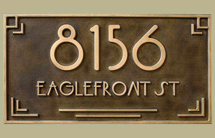 Jdrs Craftsman Makes Custom Address Plaques Art Tiles And Swtichplates For Home Business Exterior Pinterest Deco