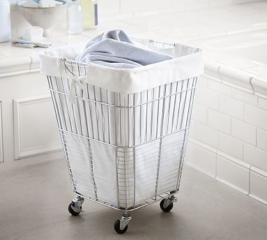 Chrome Ironing Board Rack Pottery Barn In 2020 Laundry