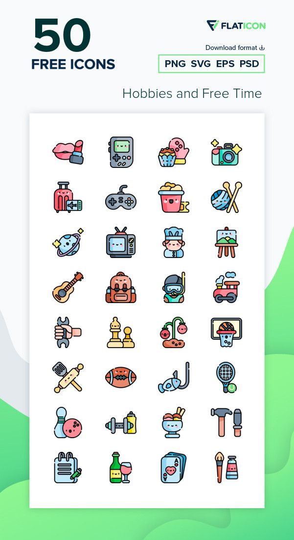 50 Free Vector Icons Of Hobbies And Free Time Designed By Freepik Icon Work Icon Time Icon