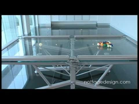 the g 1 glass top pool table by nottage design http