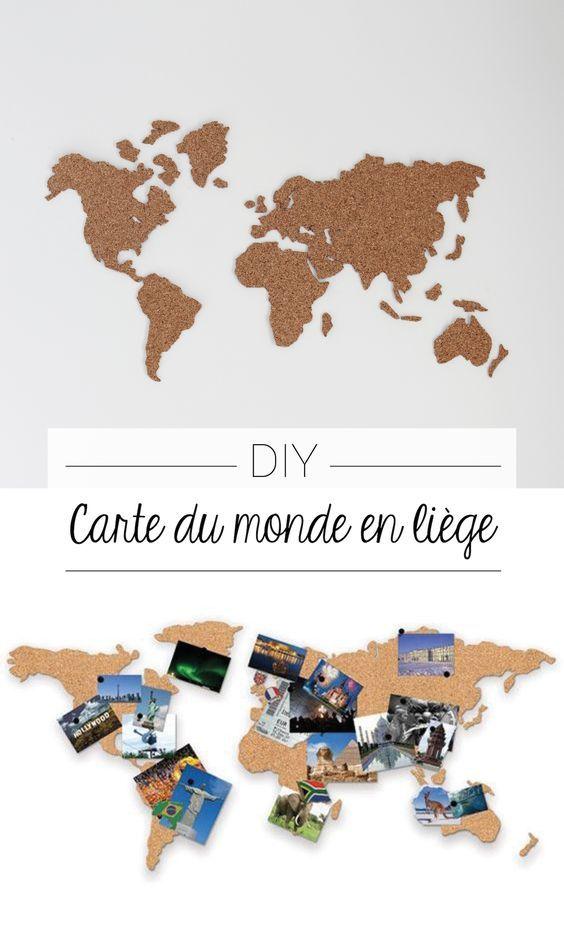 DIY Carte du monde en liège ! Patron gratuit inclus :)