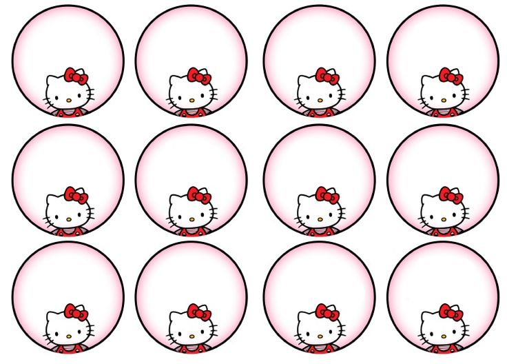 144 best images about party kitty on pinterest blank for Hello kitty cupcake topper template