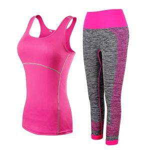Mix And Match Workout Yoga Cropped Top And 3/4 Leggings Set