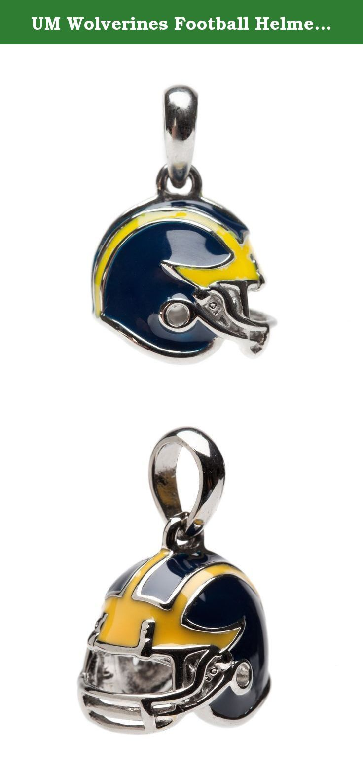 UM Wolverines Football Helmet 3-D Charm - Fits Pandora & Others. Amazing University of Michigan Football Helmet Pendant. This one of a kind UM Football Helmet Bead Charm, which is fully licensed by the University of Michigan, will be a great addition for any necklace or bracelet. The solid helmetdesign allows you to show your true Michigan colors at all Wolverine football games.