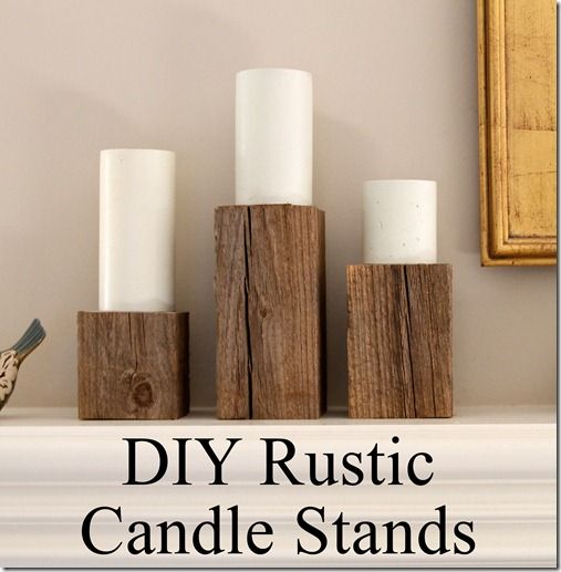31 Rustic Diy Home Decor Projects: Wood Sconce, Rustic Lanterns And Rustic Wood