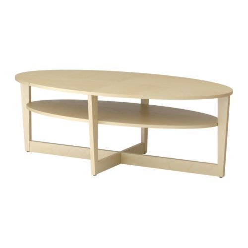 Ikea Vejmon Coffee Table Oval With Shelf Birch Veneer Different