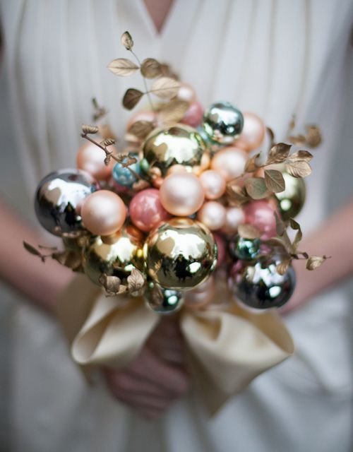 Christmas bulb bouquet - so bright and unique!