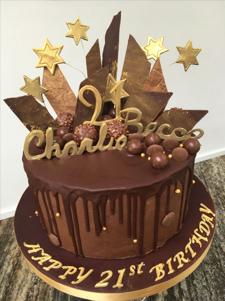 Chocolate Explosion 21st Birthday cake