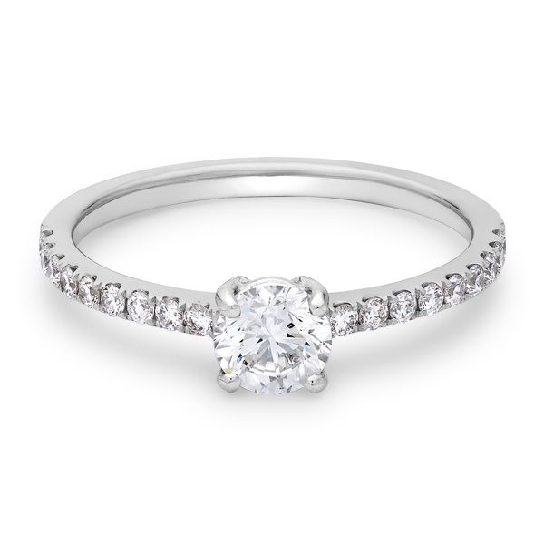 Diamond And 18 Carat White Gold Engagement Ring