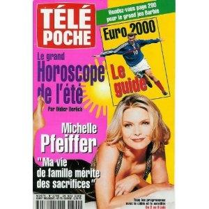 """Michelle Pfeiffer : """"Ma vie de famille mérite des sacrifices"""", dans Télé Poche n°1790 du 29/05/2000 [couverture et article mis en vente par Presse-Mémoire]"""