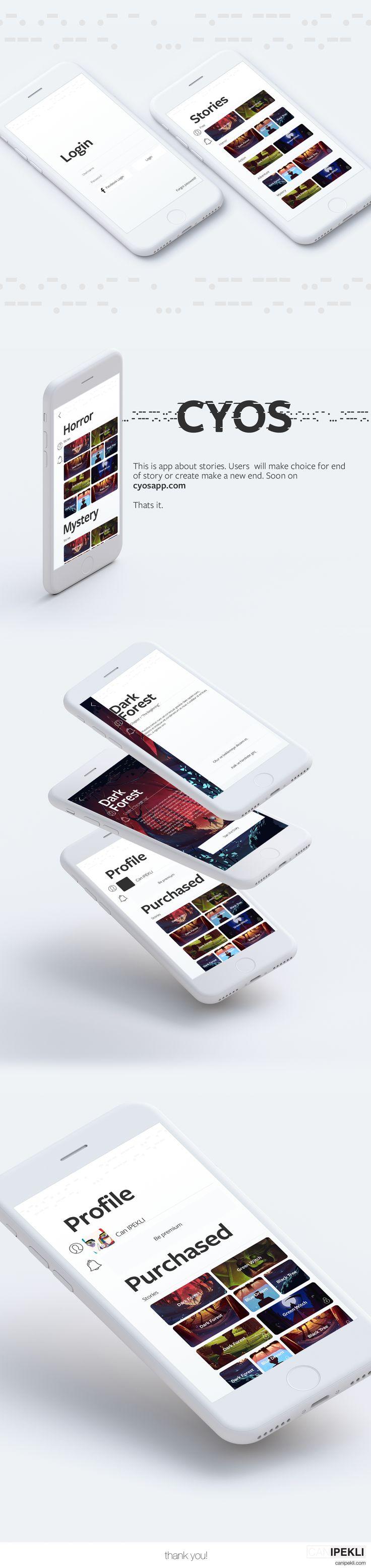 @Behance projeme göz atın: \u201cCYOS - Create Your Own Story\u201d https://www.behance.net/gallery/54379809/CYOS-Create-Your-Own-Story