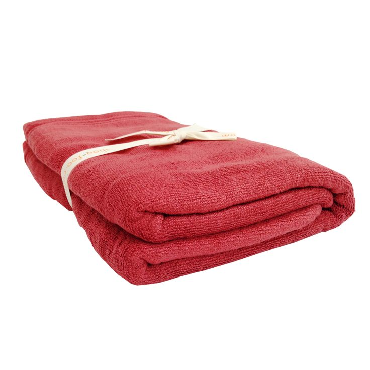 Red Bamboo Towels Set.