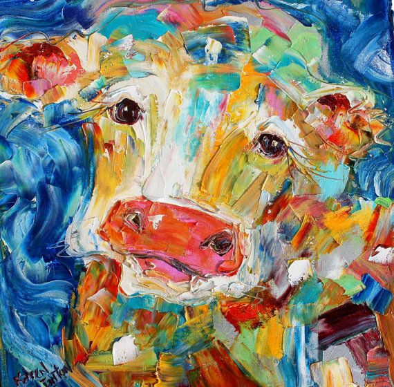 294 best images about my whimsical animal paintings on for Cute abstract art