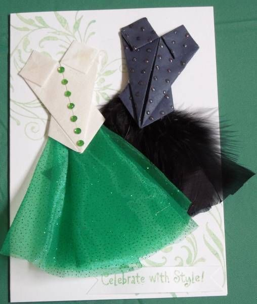 Origami bodice dress by GlendaC - Cards and Paper Crafts at Splitcoaststampers