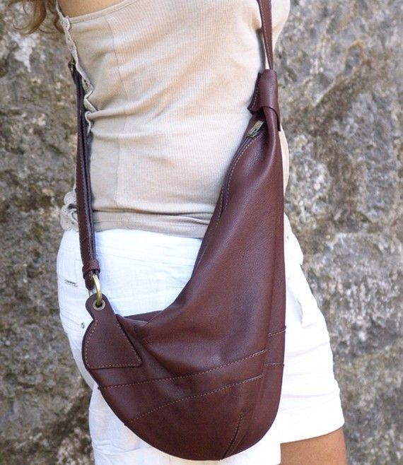 Leather handmade cross body sling bag-Korina in door iyiamihandbags