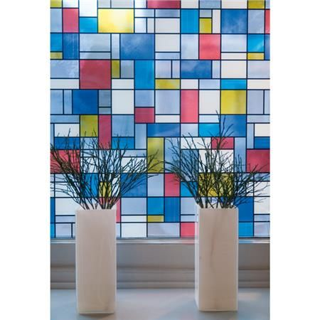 Mondrian Window Film - Fablon Sticky Back Plastic