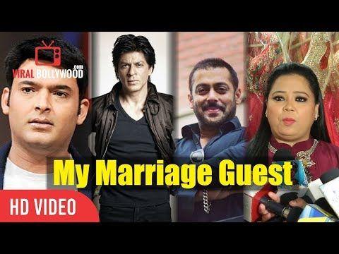 Bharti Singh's Marriage Guest Salman Khan Shahrukh Khan Kapil Sharma And Karan Johar