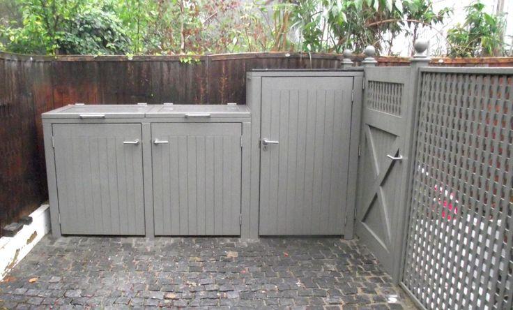 Bespoke 2 Bay bin store and storage cupboard