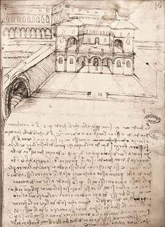 LEONARDO DA VINCI, La Città Ideale (1487-1490), Milano; Sciostra Leonardesca #Utopia
