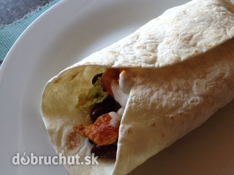 Fotorecept: Fajitas - plnené tortilly