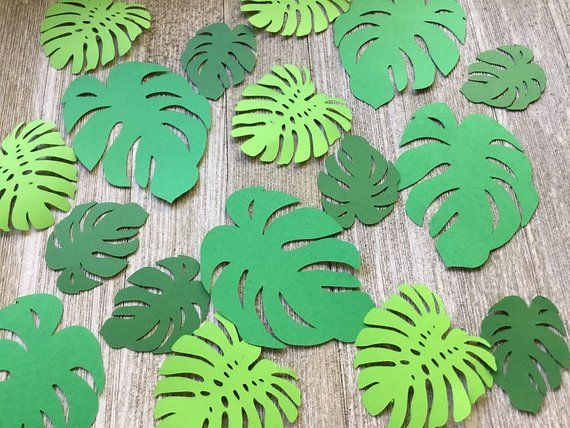 Green Palm Leaves Background Dinosaur Party Baby Shower Birthday Hanging Decor