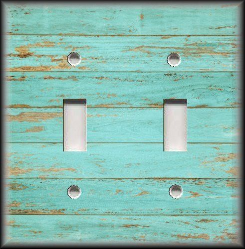 Light Switch Plate Cover - Beach Wood Image - Coastal Home Decor Sea Foam #LunaGallerySwitchPlates