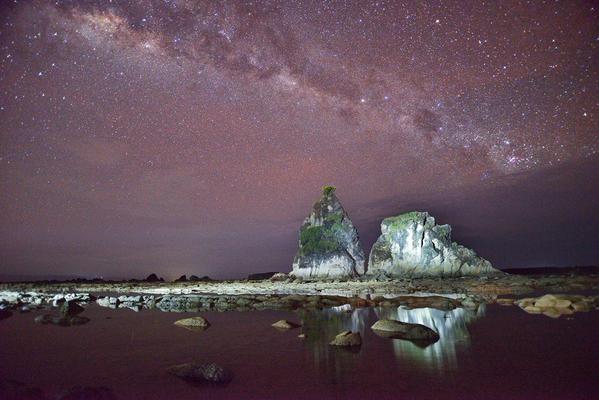 Milky Way over Sawarna Beach, Indonesia. #travel #photography