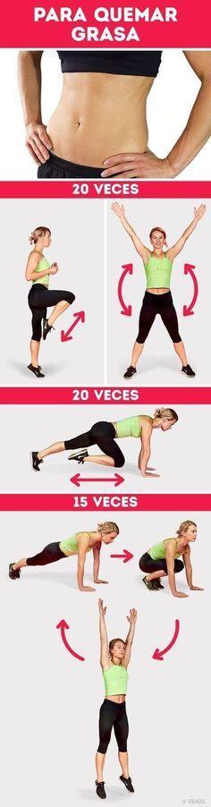 Prueba estos sencillos ejercicios para quemar grasa desde tu casa. | Rutinas de ejercicio en casa | Rutina de ejercicios paso a paso para quemar grasa. | #workout #quemagrasa