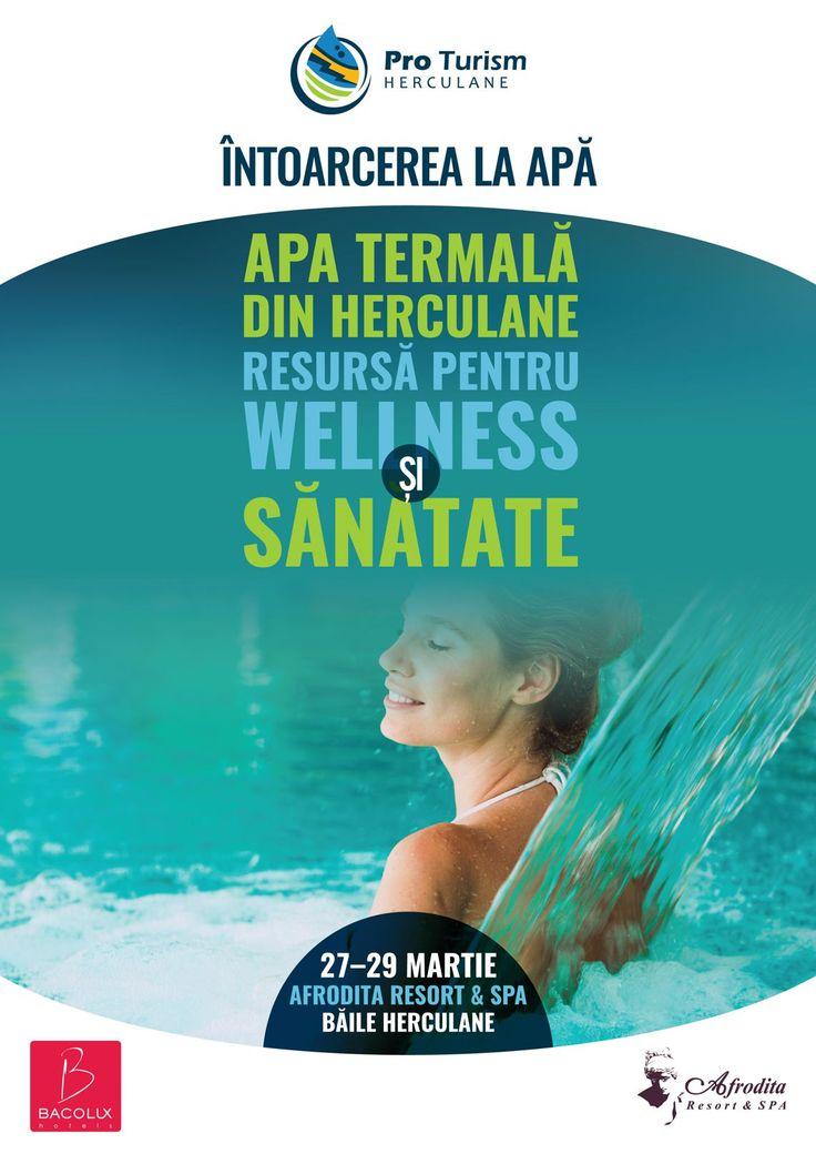 Primăvara aduce în Herculane, ca în fiecare an, un nou eveniment al Asociației Pro Turism Herculane. Ediția a VIII-a a ,,Conferinței Naționale Întoarcerea la Apă,, are loc în perioada 27 – 29 martie la Afrodita Resort & Spa.