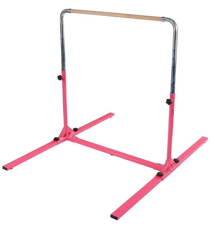 "The Tumbl Trak Jr. Bar Pro offers a strong durable frame and simple set up. This home gymnastics bar features quick adjustable knobs, that allow the bar height to adjust from 38"" up to 58 1/2"". This b"
