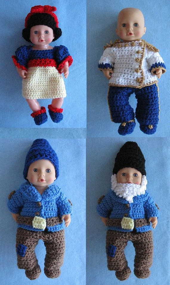 Snow White Prince Charming & Dawrfs by DonnasCrochetDesigns
