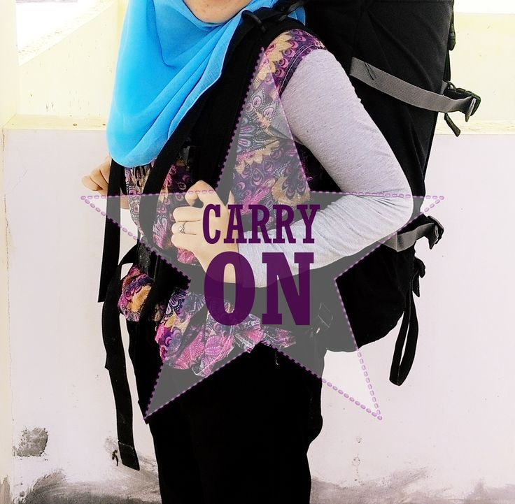 Carry On #girl #hijab #carrier #adventure