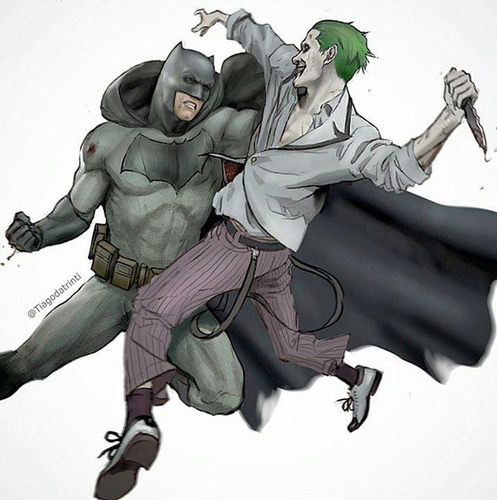Ben Affleck's BATMAN Vs. Jared Leto's JOKER! (By: #Tiagodatrinti)