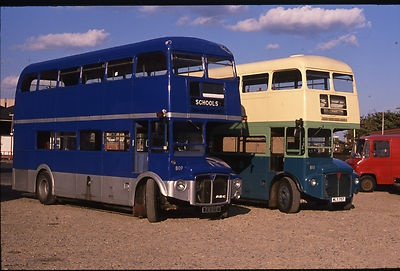 East Yorkshire Motor Services Routemasters 741 DYE+WLT757 Original Bus slide | eBay
