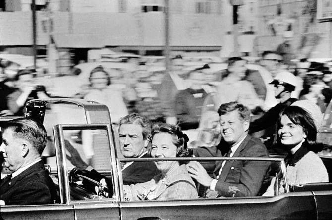 Photos trace the events of the day, from Kennedys speech in Fort Worth to a new president in Washington