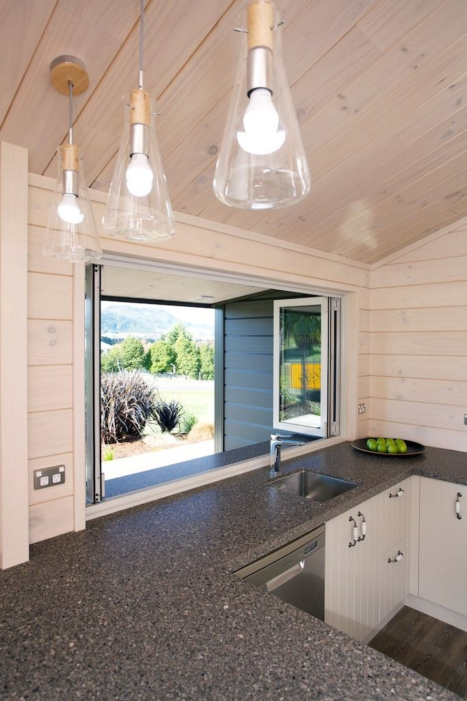 Lockwood show home in Taupo, Stewart plan with bifolds out onto the deck