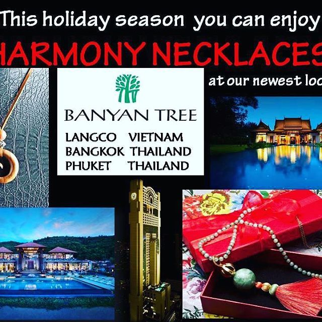 While you are traveling, HARMONY can be purchased at:  1. BANYAN TREE Lang Co VietNam  @banyantreelangco Cu Du Village, Loc Vinh Commune, Phu Loc District, Thua Thien Hue Province, Vietnam 2. BANYAN TREE BANGKOK  @banyantreebangkok Sathon Road, Sathon, Bangkok 10120, Thailand  3. BANYAN TREE PHUKET  @banyantreephuket 33, 33/27 Moo 4, Srisoonthorn Road Cherngtalay, Amphur Talang, Phuket 83110, Thailand  Unique design.  Welcome you, ladies and gentlemen.  Don't hesitate to contact us at…