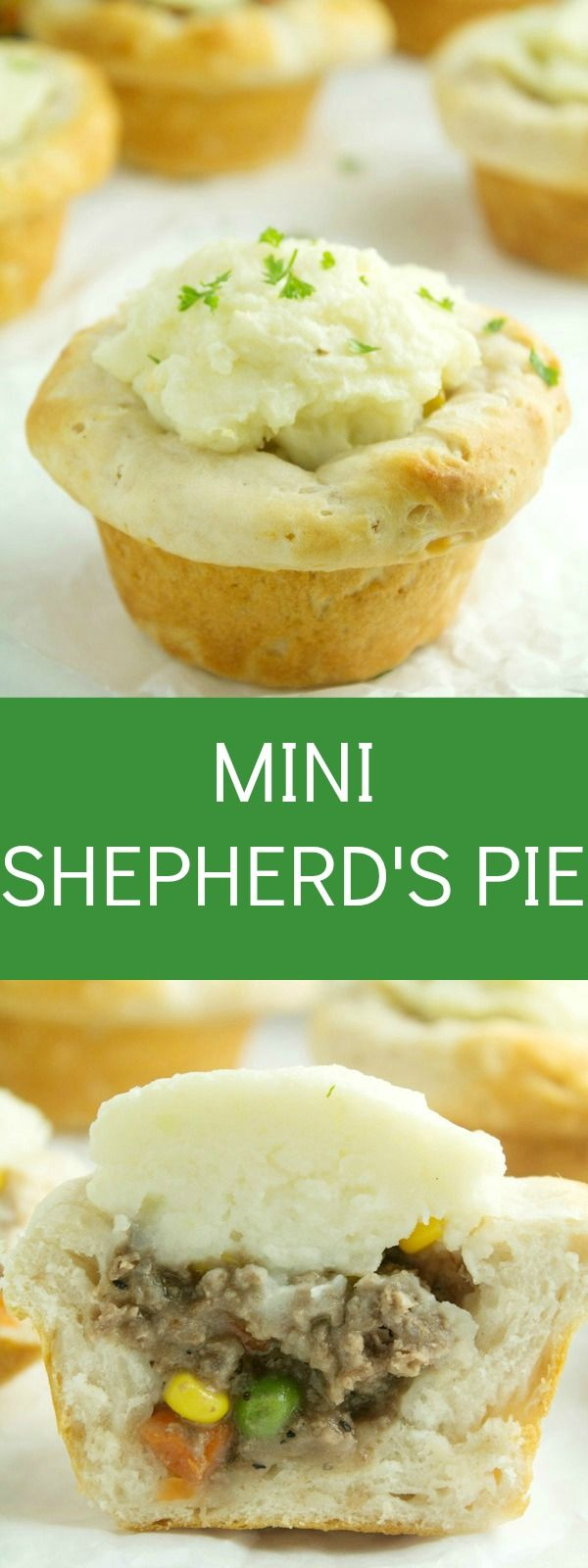 delicious mini shepherd's pie recipe that uses biscuits, filled ...